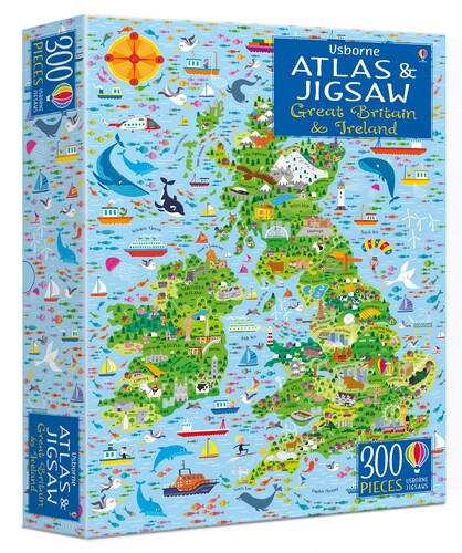 Great Britain and Ireland jigsaw and atlas