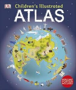 Children's Illustrated Atlas with Poster
