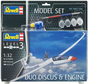 Подарочный набор c моделью планера Revell Glider Duo Discus & Engine (63961)