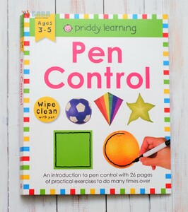 Wipe Clean Workbook: Pen Control and Tracing (enclosed spiral binding)