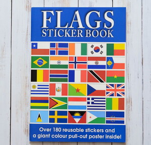 Flags Sticker Book + poster
