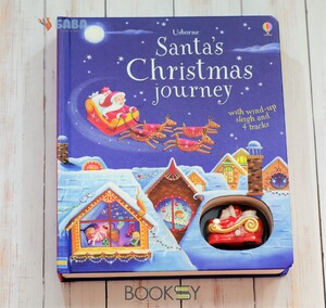 Santa's Christmas Journey with Wind-Up Sleigh