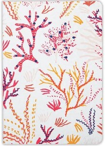 Handmade Embroidered Journal. Coral