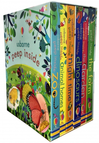 Usborne Peep Inside Collection 6 Books Box Set Children Gift Set