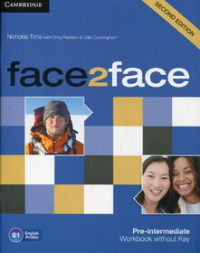 Face2face. Pre-intermediate. Workbook without Key