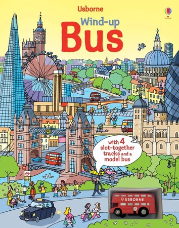 Фото Wind-up bus book with slot-together tracks.