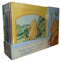 Winnie the Pooh 6 Books Poster & Fun Stickers Collection