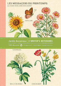 Jardin Botanique Writer's Notebooks. Set Of Three